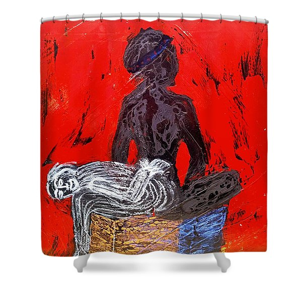The Blood Hot Fantasy Shower Curtain