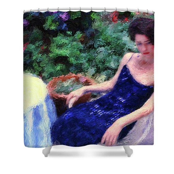 The Blue Dress Shower Curtain