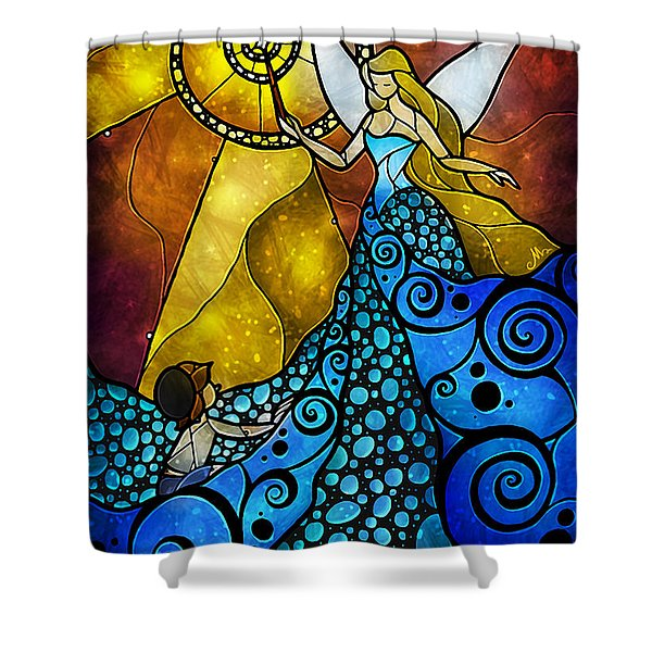 The Blue Fairy Shower Curtain