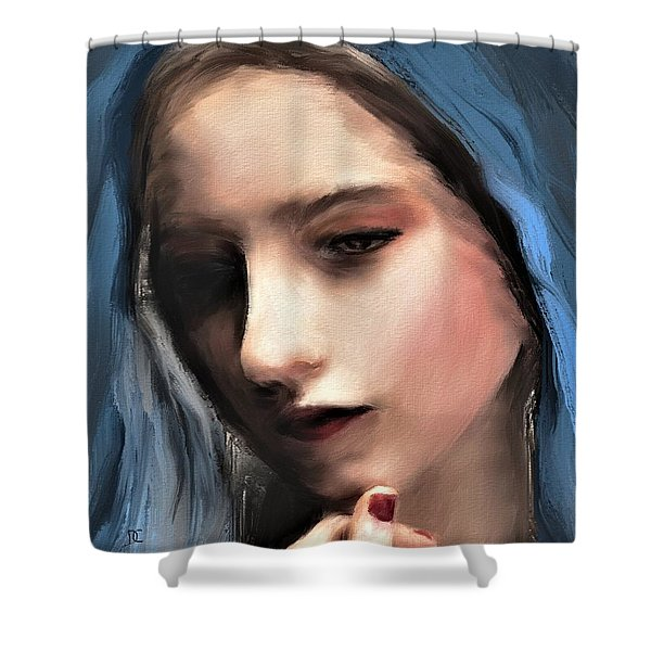 The Blue Scarf Shower Curtain