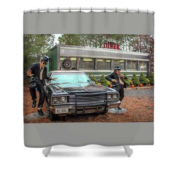 The Blues Brothers At A Diner Shower Curtain