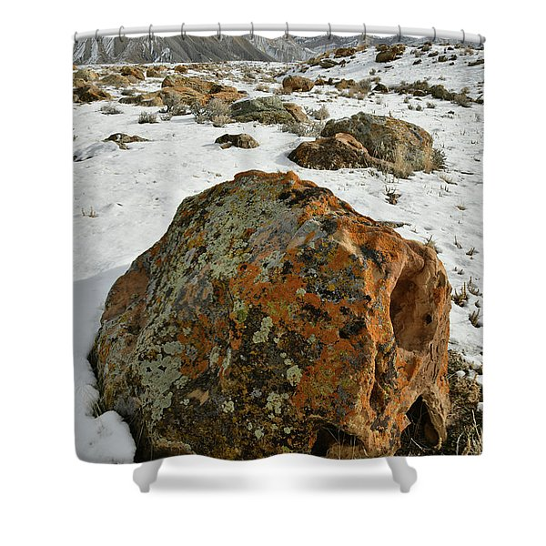 The Book Cliff's Colorful Boulders Shower Curtain