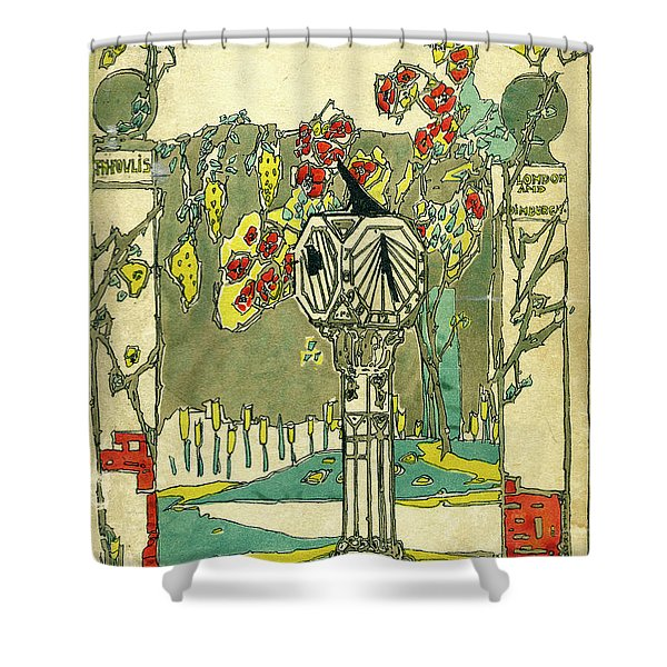 Cover Design For The Book Of Old Sundials Shower Curtain