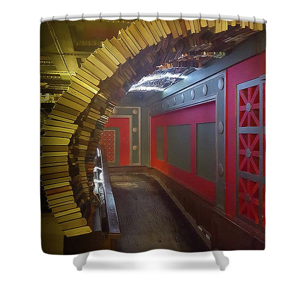 The Book Tunnel Shower Curtain
