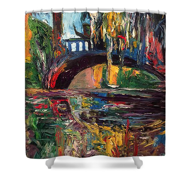 The Bridge At City Park New Orleans Shower Curtain