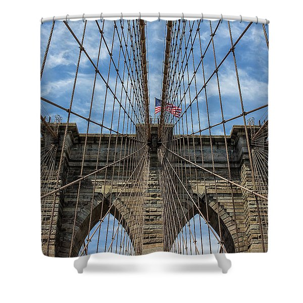 The Brooklyn Bridge Shower Curtain