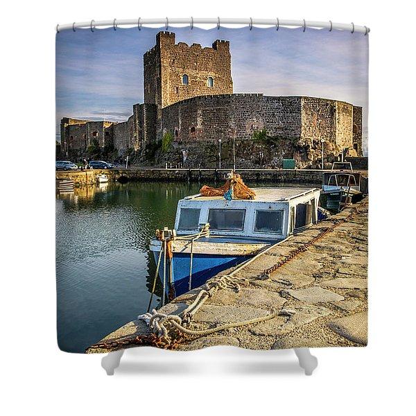 The Castle Harbour Shower Curtain