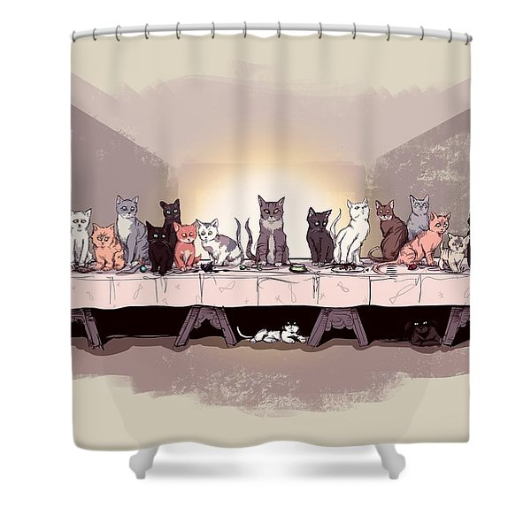 The Cat Supper Shower Curtain