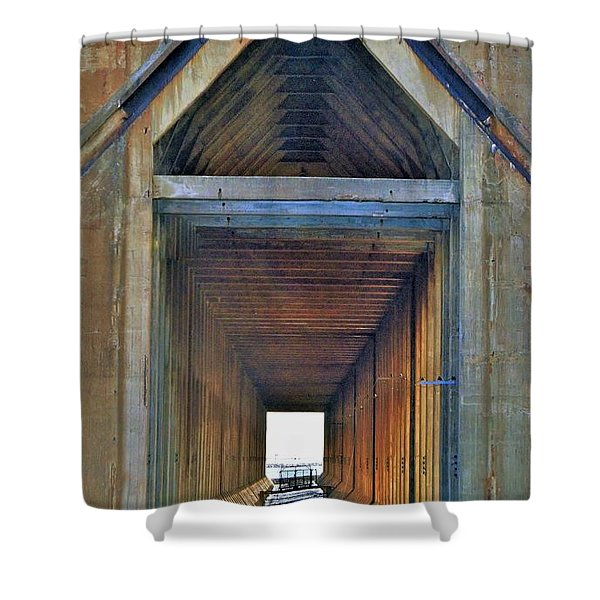 The Cathedral Ore Dock Of Marquette Shower Curtain