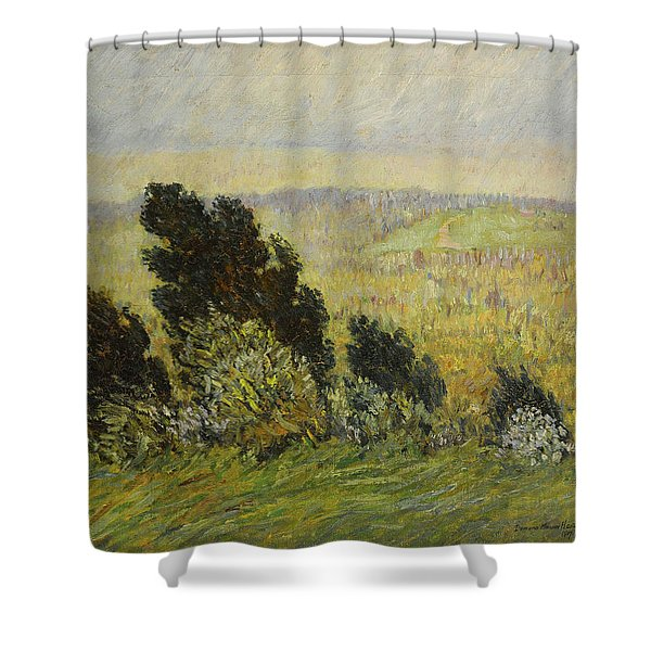 The Cedar Hedge, Spring Breezes And Rains Shower Curtain