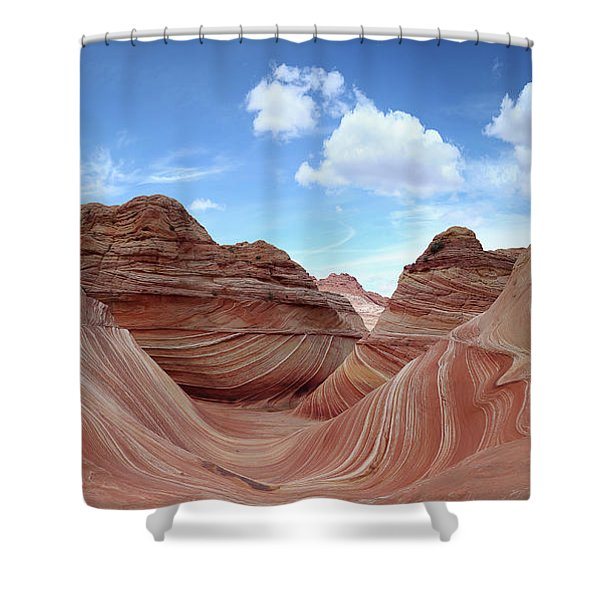 The Classic Wave Shower Curtain