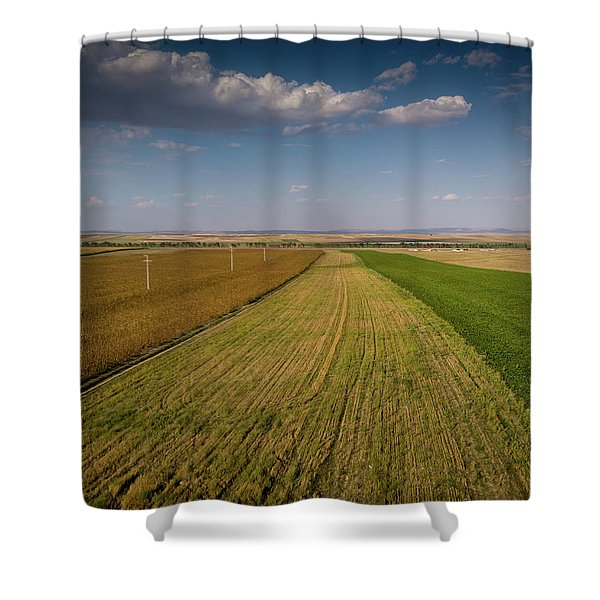 The Colored Fields Shower Curtain