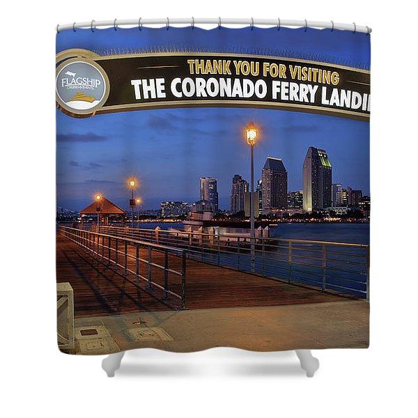 The Coronado Ferry Landing Shower Curtain