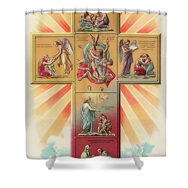 The Cross Of Prayer Shower Curtain