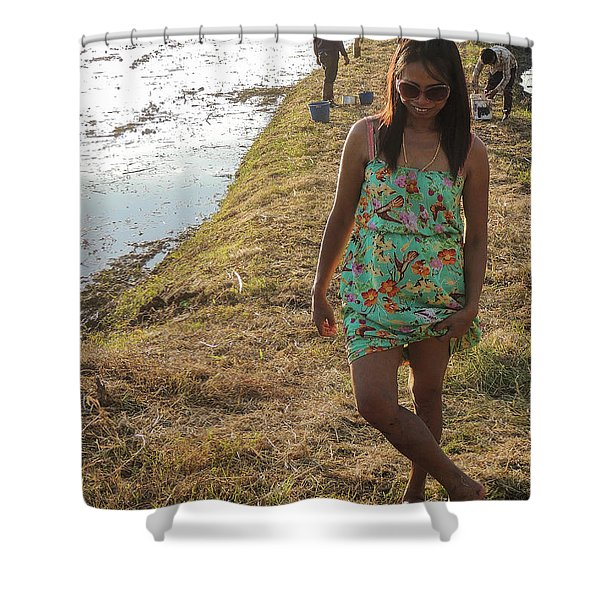 The Dancing Girl Shower Curtain