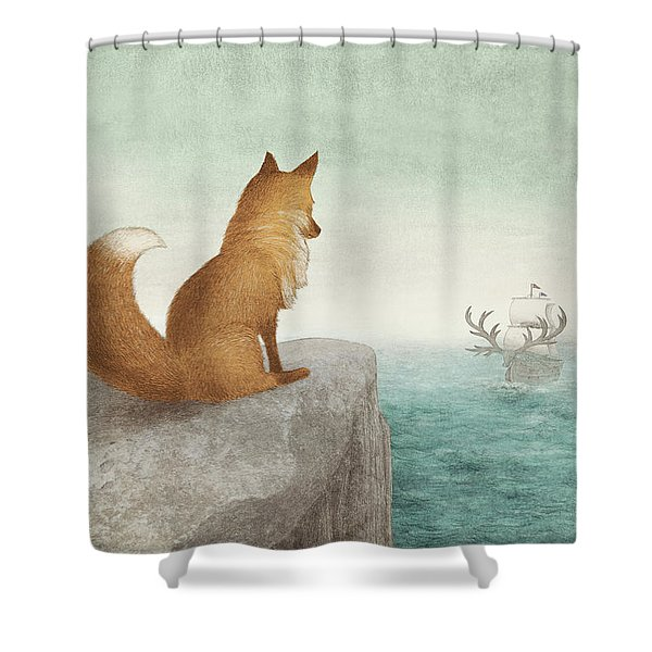 The Day The Antlered Ship Arrived Shower Curtain