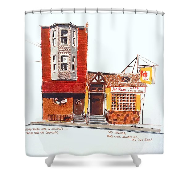 The Del Rose Shower Curtain