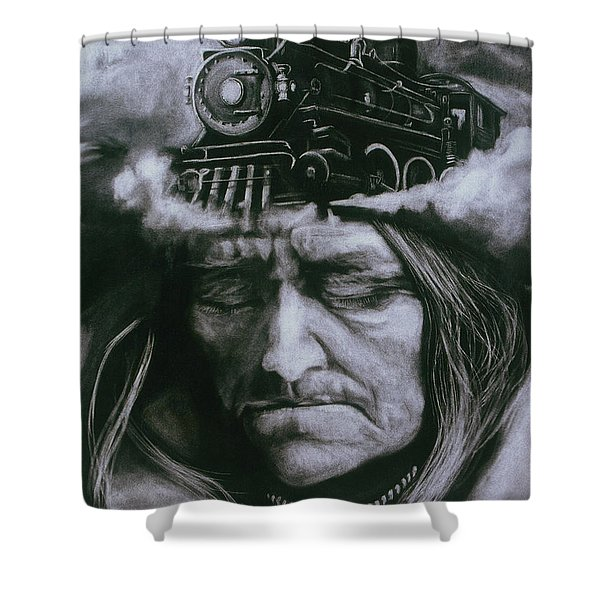 The Demise Shower Curtain