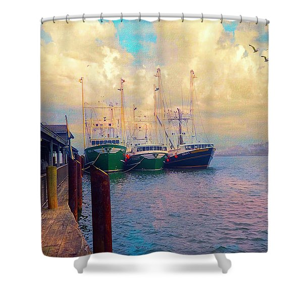 The Docks At Cape May Shower Curtain