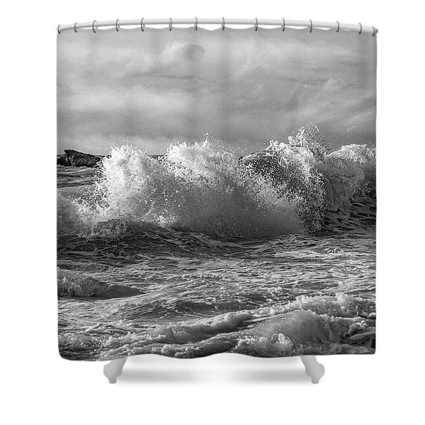 The Dramatic Sea Shower Curtain