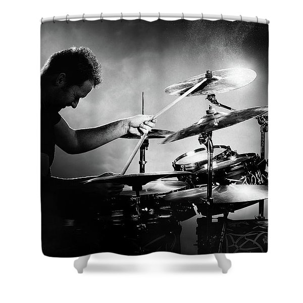 The Drummer Shower Curtain