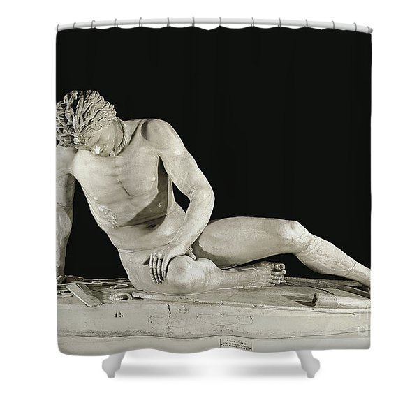 The Dying Gaul Sculpture Shower Curtain