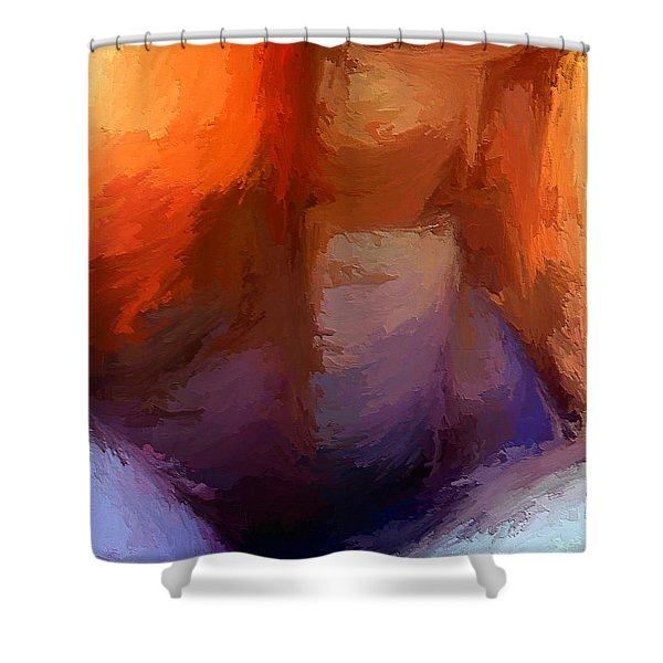 The Edge Of Darkness Shower Curtain