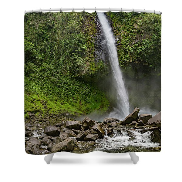 The Enchanting Downfall Waterfall Shower Curtain