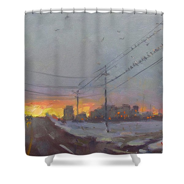 The End Of A Gray Day Shower Curtain