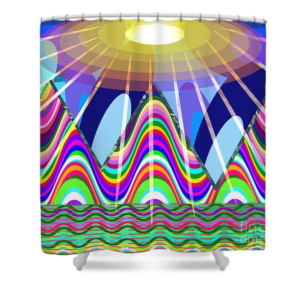 The End Of The Rainbow Shower Curtain