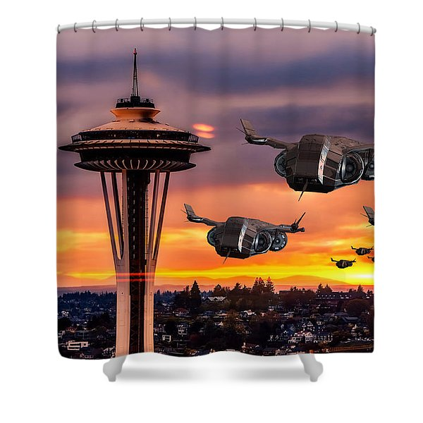 The Evening Commute Shower Curtain