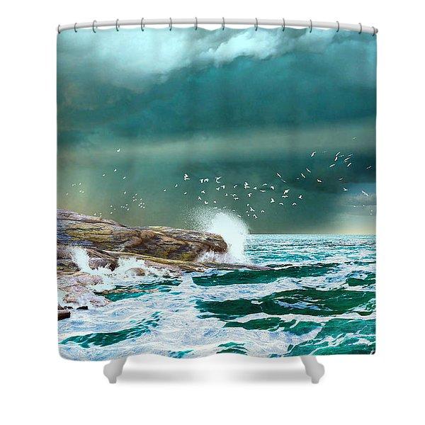 The Eye Of Neptune Shower Curtain