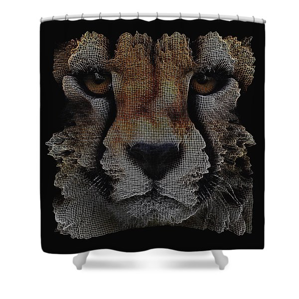 The Face Of A Cheetah Shower Curtain