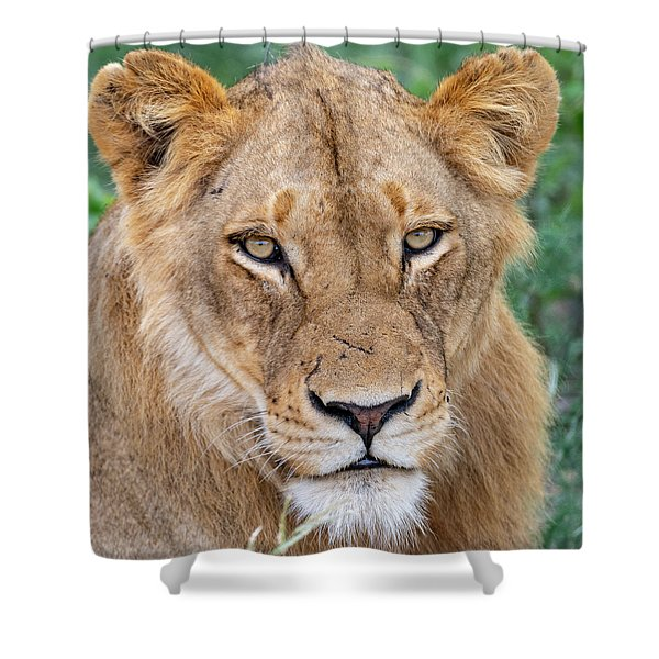 The Face Of Experience Shower Curtain
