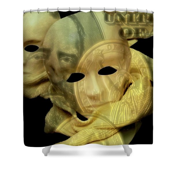 The Face Of Greed Shower Curtain