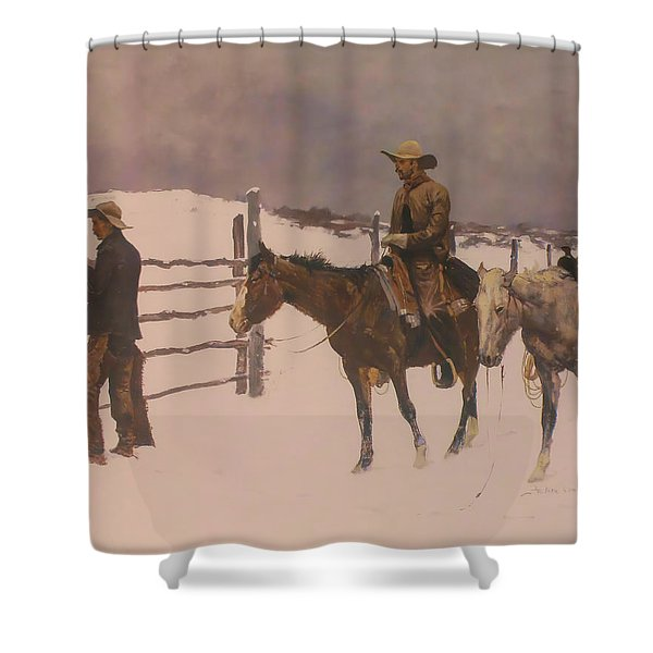 The Fall Of The Cowboy Shower Curtain