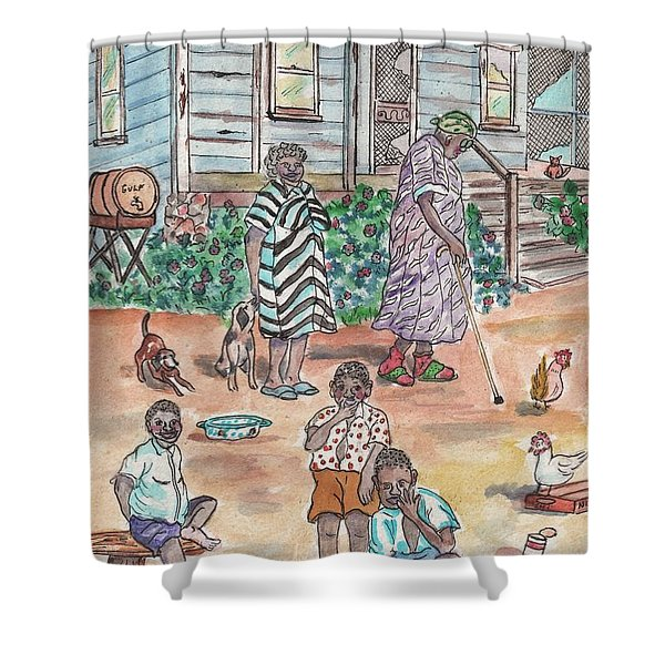 The Family On Magnolia Road Shower Curtain