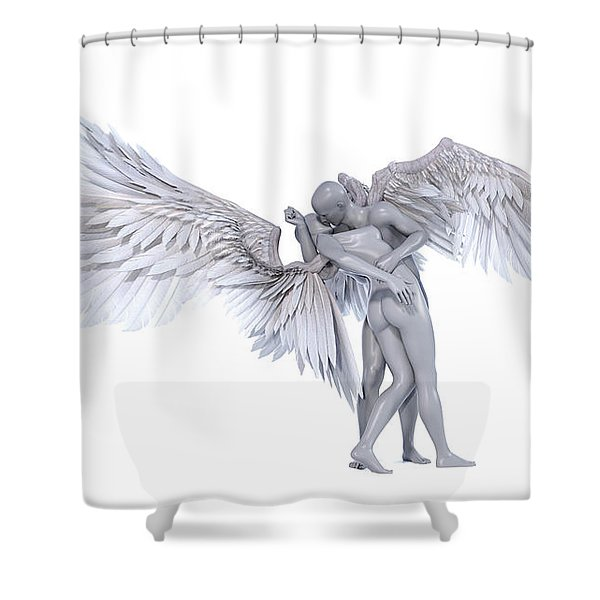 The Famous Kiss Shower Curtain