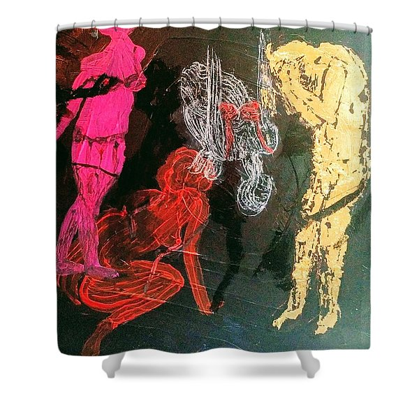 The Fates Are Emerging Shower Curtain