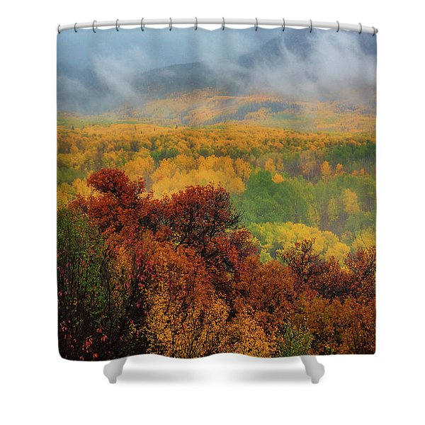 Shower Curtain featuring the photograph The Feeling Of Fall by John De Bord