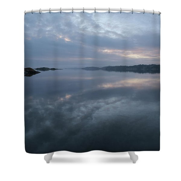 The Fog Lightens Shower Curtain