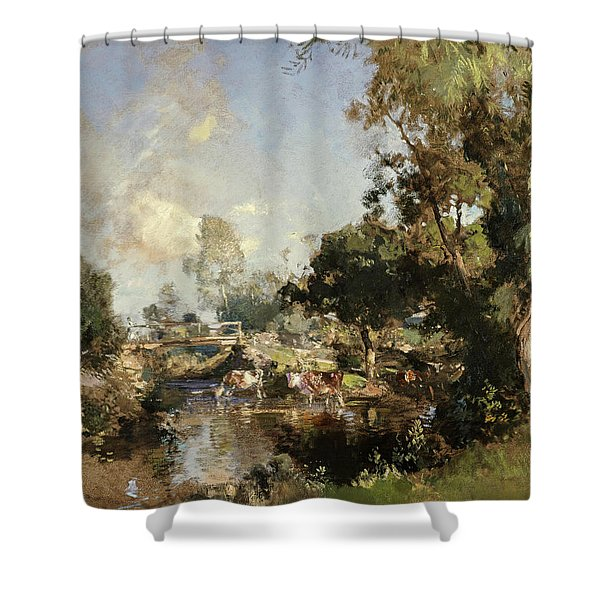 The Ford, New Abbey, 1917 Shower Curtain