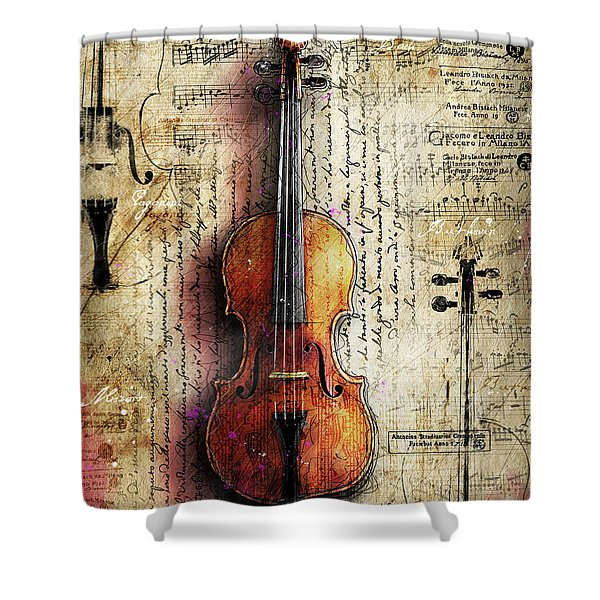 The Francesca Stradivari Shower Curtain