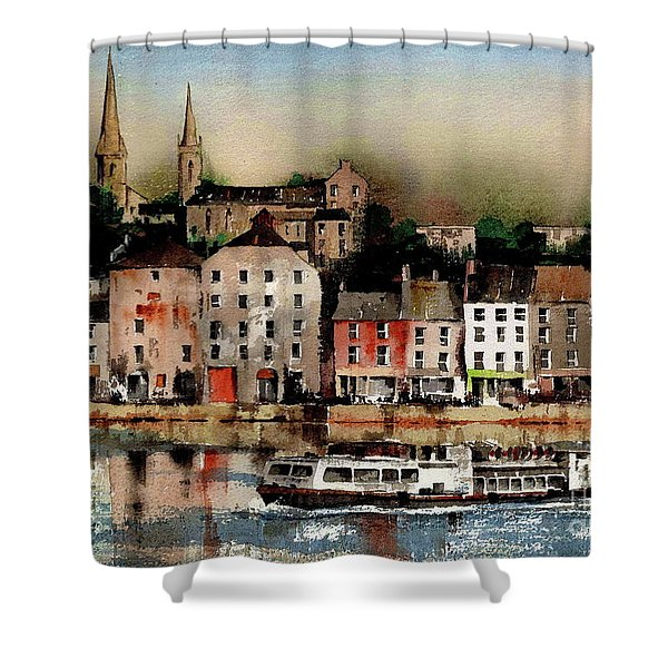 The Galley Off New Ross, Wexford Shower Curtain
