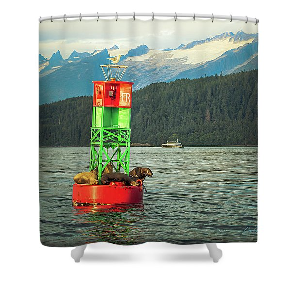 The Gang's All Here Shower Curtain
