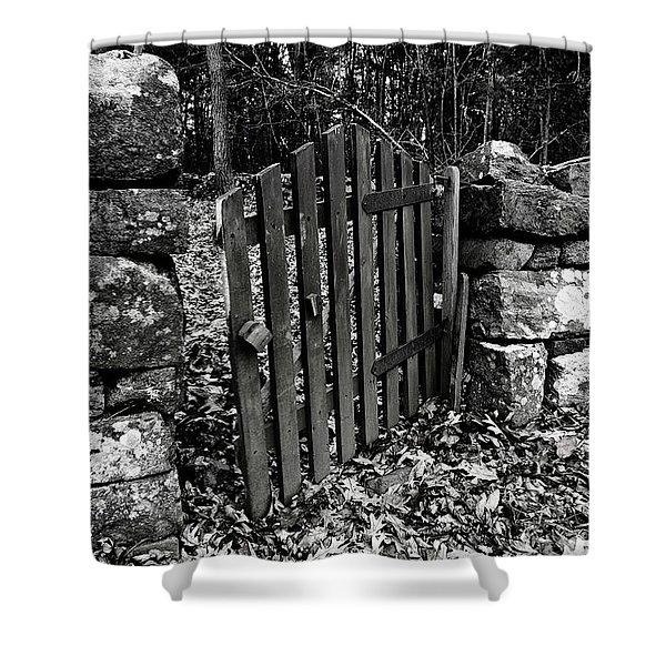 The Garden Entrance Shower Curtain