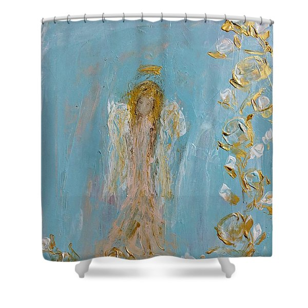 The Golden Child Angel Shower Curtain