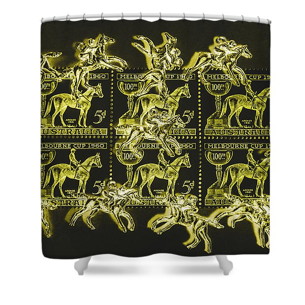 The Golden Race Shower Curtain