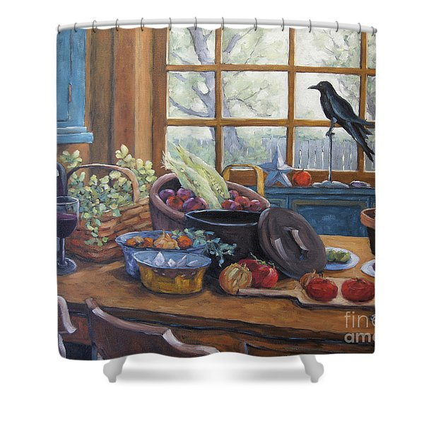 The Good Harvest Country Kitchen By Richard Pranke Shower Curtain