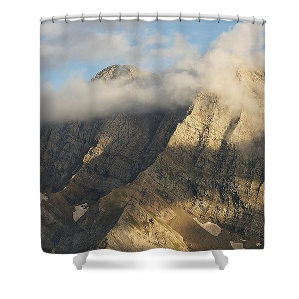 The Grand Astazou In The Evening Light Shower Curtain